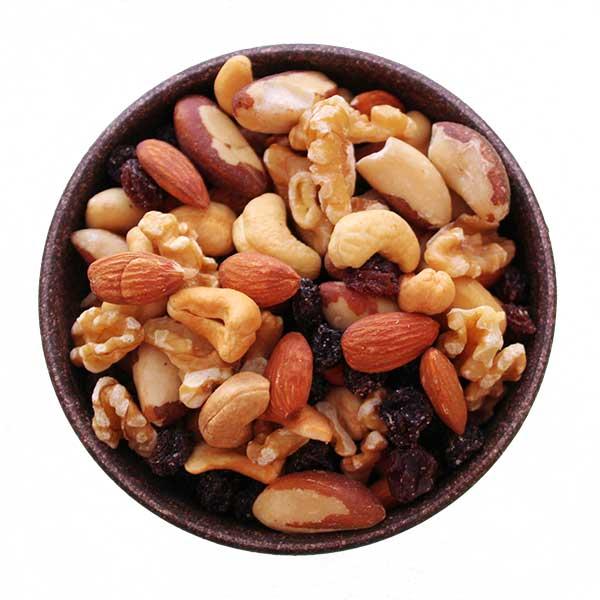 Imagem ilustrativa do produto mix de frutas secas castanhas com uvas passas