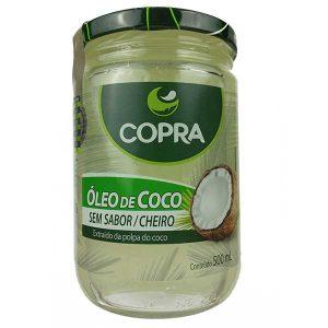 óleo de coco sem sabor 500ml da marca copra
