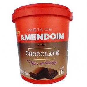 pasta de amendoim com Chocolate Meio Amargo 1,02kg da marca Mandubim