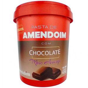 pasta de amendoim com Chocolate Meio Amargo 450g da marca Mandubim
