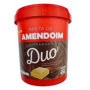 pasta de amendoim duo com Chocolate Branco e Meio Amargo 450g da marca Mandubim