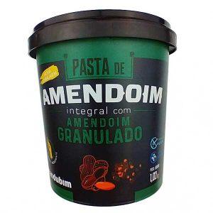 pasta de amendoim integral com amendoim granulado 1,02kg da marca Mandubim