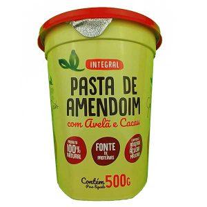 pasta de amendoim integral com avelã e cacau 500g da marca Terra dos Grãos