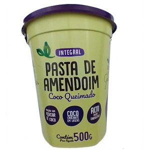 pasta de amendoim integral com coco queimado 500g da marca Terra dos Grãos