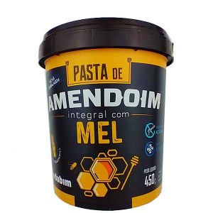 pasta de amendoim integral com mel 450g da marca Mandubim