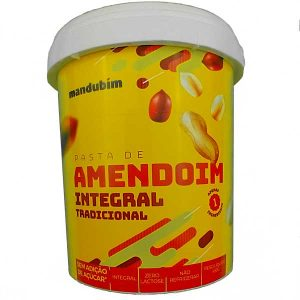 pasta de amendoim integral 450g da marca Mandubim